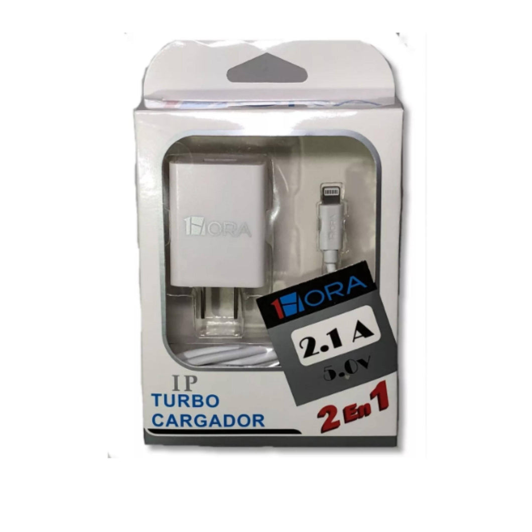 Turbo Cargador iPhone 5v 2.1a Con Cable Stela 1hora - APE-Plazas