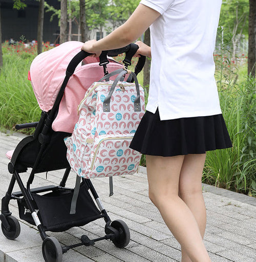 The Envy Ultimate Diaper Bag Backpack USB Phone Charger Baby Nappy Changing Bag Backpack with Stroller Straps