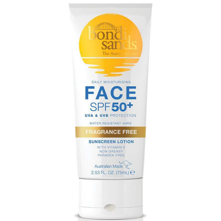 Bondi Sands Daily Moisturising Face SPF 50+ Sunscreen Lotion Fragrance Free 75ml | Live Healthy Store HK - Bondi Sands / Personal Care