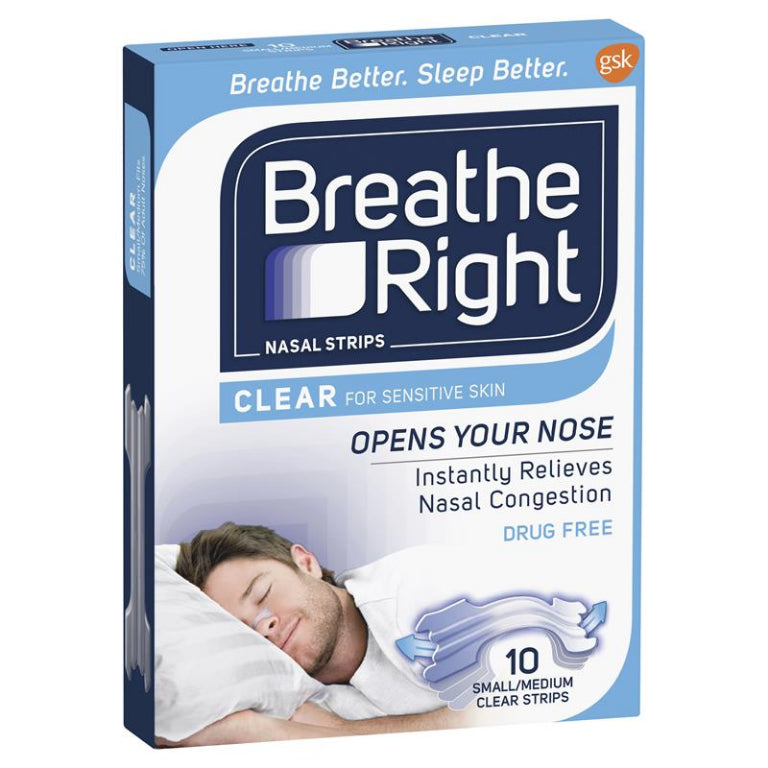 Breathe Right Clear Regular Nasal Congestion Strips 10 | Live Healthy Store HK - Breathe Right / Medicines