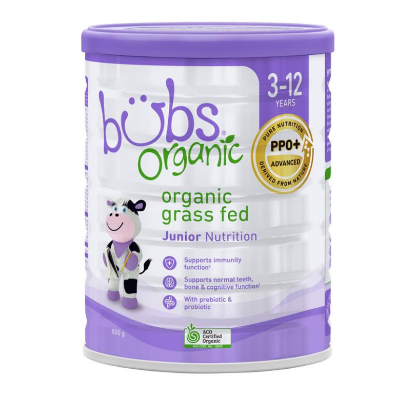 Bubs Organic Grass Fed Junior Nutrition Drink 800g
