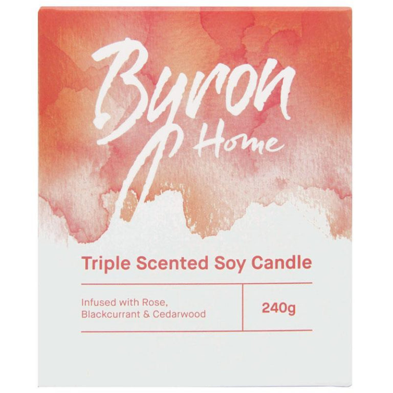 Byron Home Triple Scented Soy Candle Rose Blackcurrant & Cedarwood | Live Healthy Store HK - Byron / Beauty