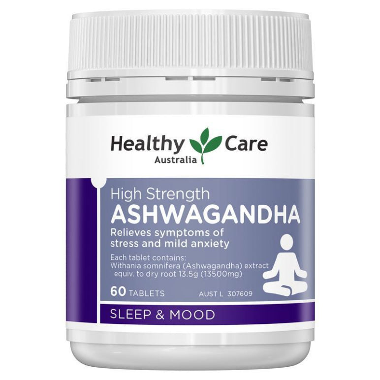 Healthy Care High Strength Ashwagandha 60 Tablets | Live Healthy Store HK - Healthy Care / Health