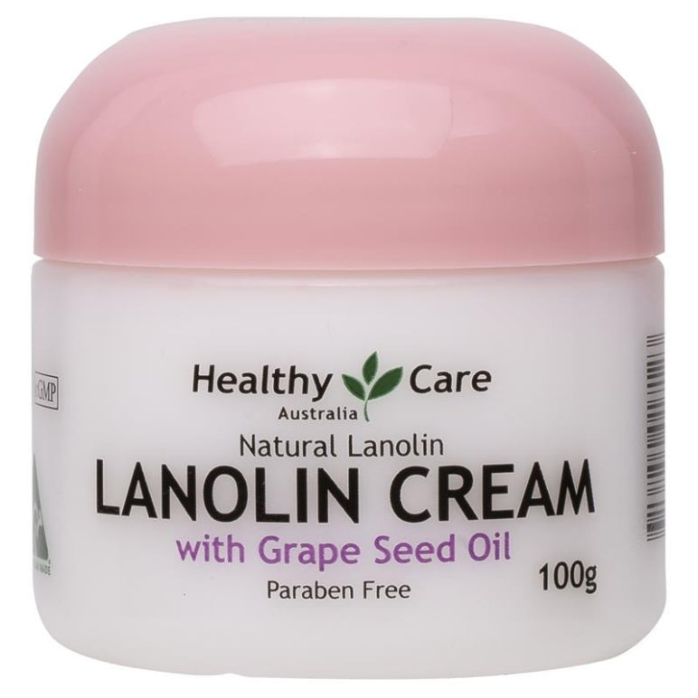 Healthy Care Lanolin Cream With Grape Seed 100g | Live Healthy Store HK - Healthy Care / Health