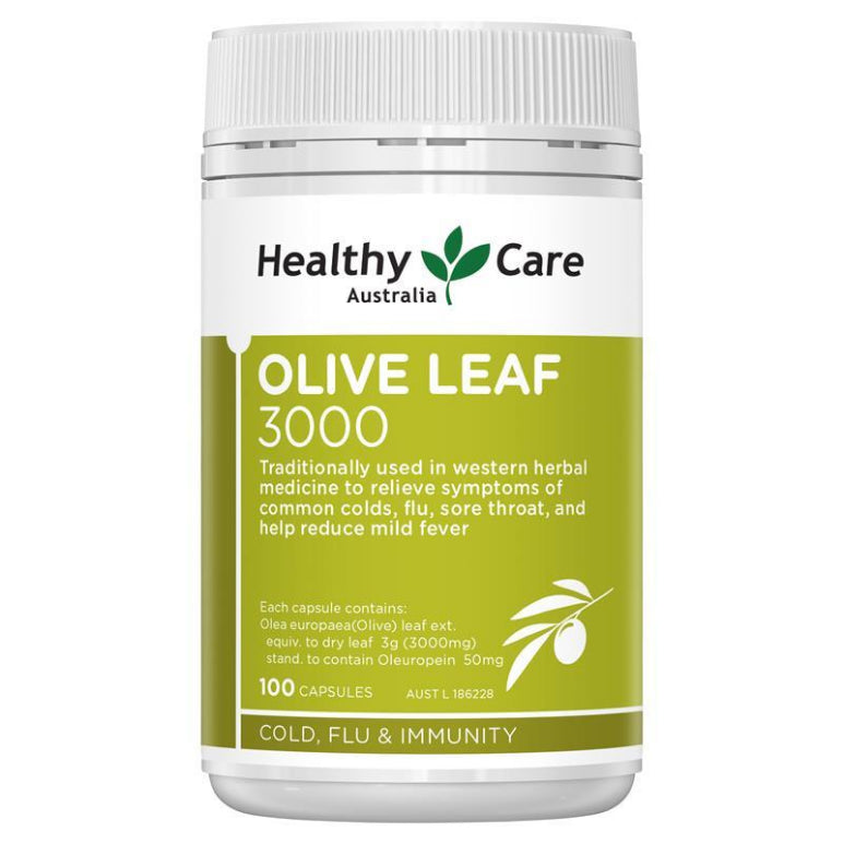 Healthy Care Olive Leaf Extract 3000mg 100 Capsules