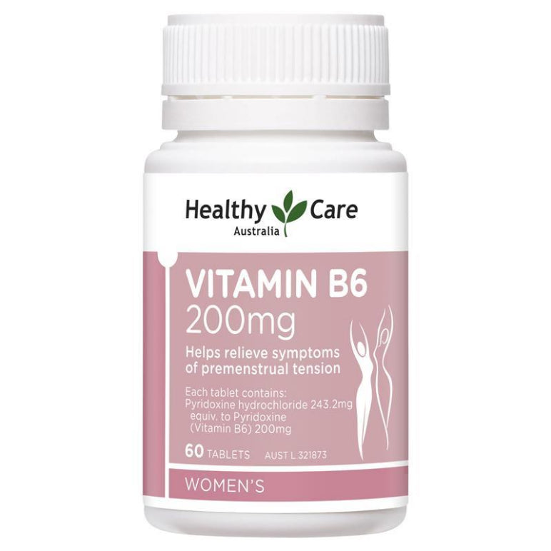 Healthy Care Vitamins B6 200mg 60 Tablets | Live Healthy Store HK - Healthy Care / Health
