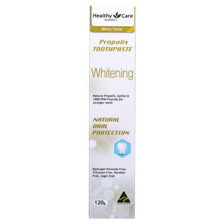 Healthy Care Whitening Propolis Toothpaste 120g | Live Healthy Store HK - Healthy Care / Health