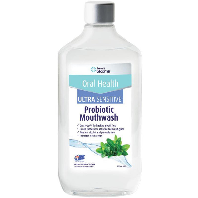 Henry Blooms Probiotic Mouthwash Peppermint Ultra Sensitive 375ml | Live Healthy Store HK - Henry Blooms / Health