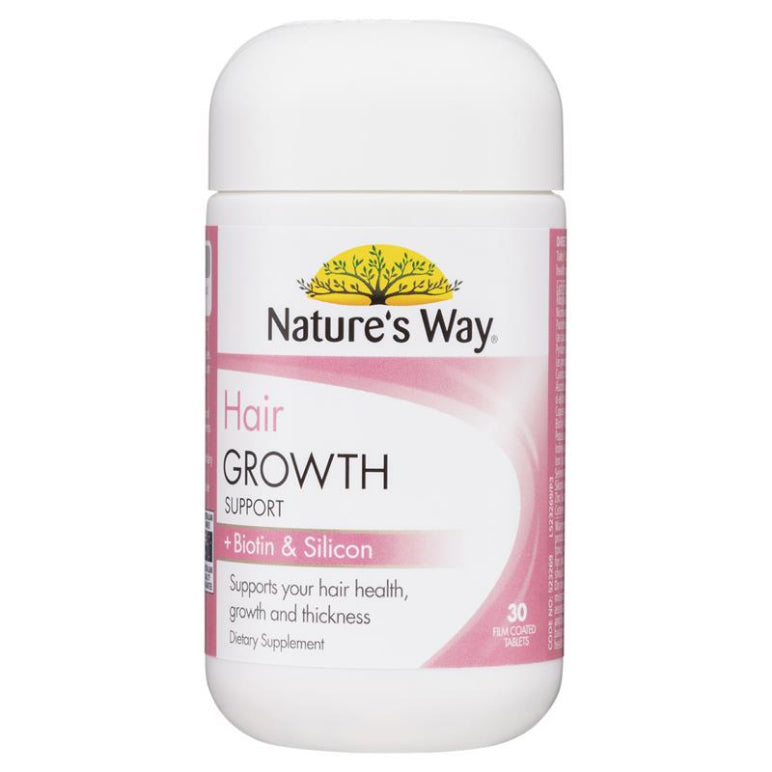 Nature's Way Hair Growth Support + Biotin & Silicon 30 Tablets | Live Healthy Store HK - Nature's Way / Health