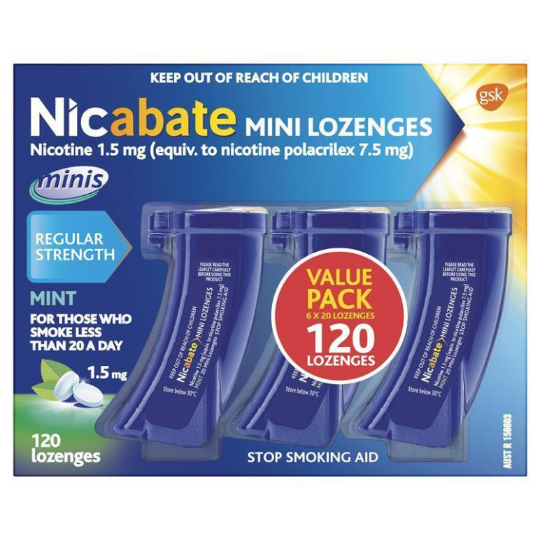 Nicabate Minis 1.5mg 120 Lozenges