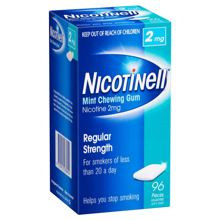 Nicotinell Chewing Gum 2mg Mint 96 | Live Healthy Store HK - Nicotinell / Medicines