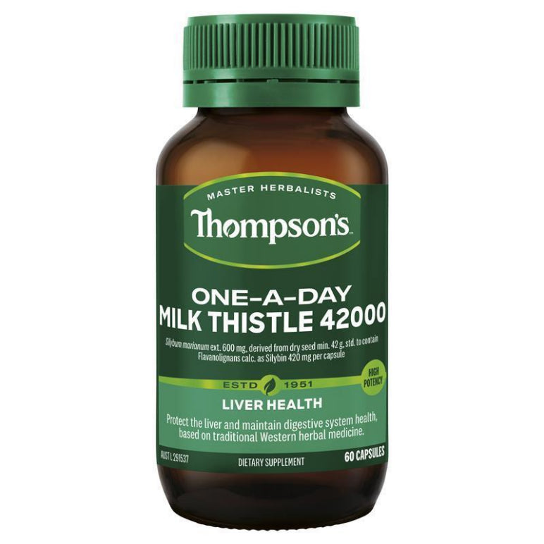 Thompson's One-a-day Milk Thistle 42000mg 60 Capsules | Live Healthy Store HK - Thompson's / Health