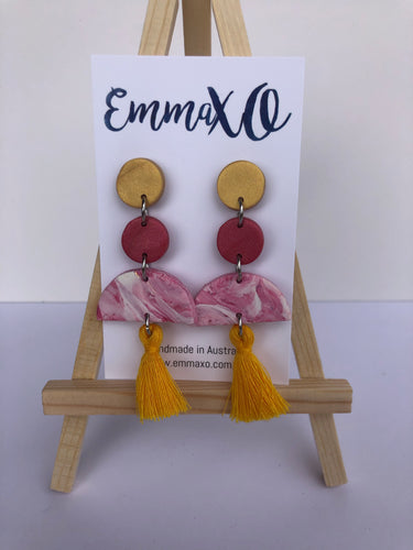 Sunset Pink Statement Dangles