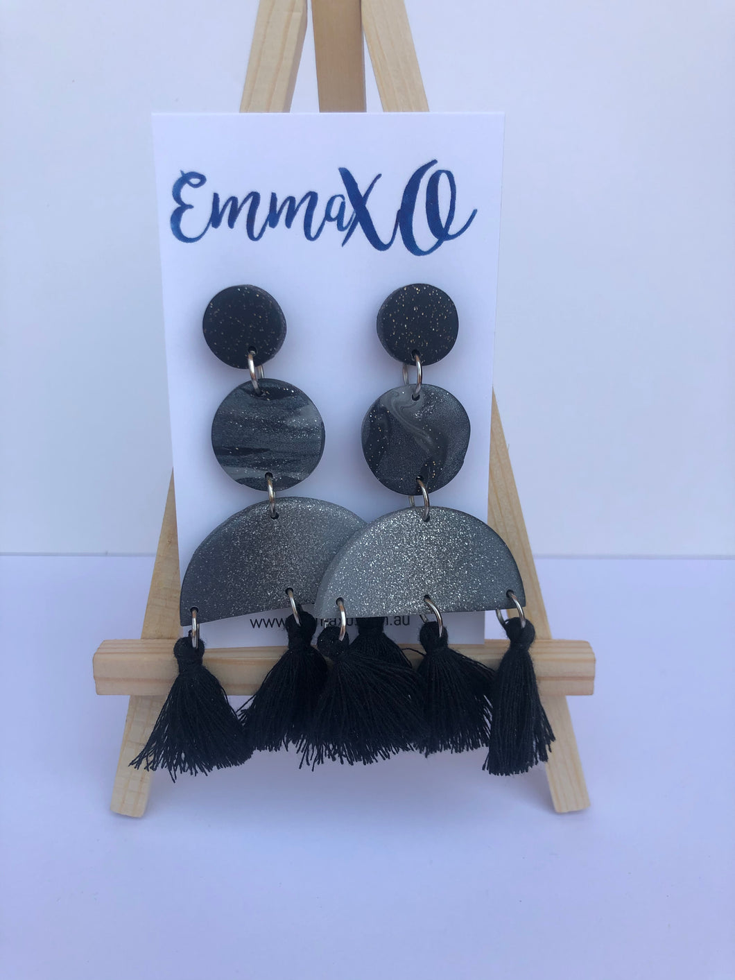 Statement Dangles in Black Ombré