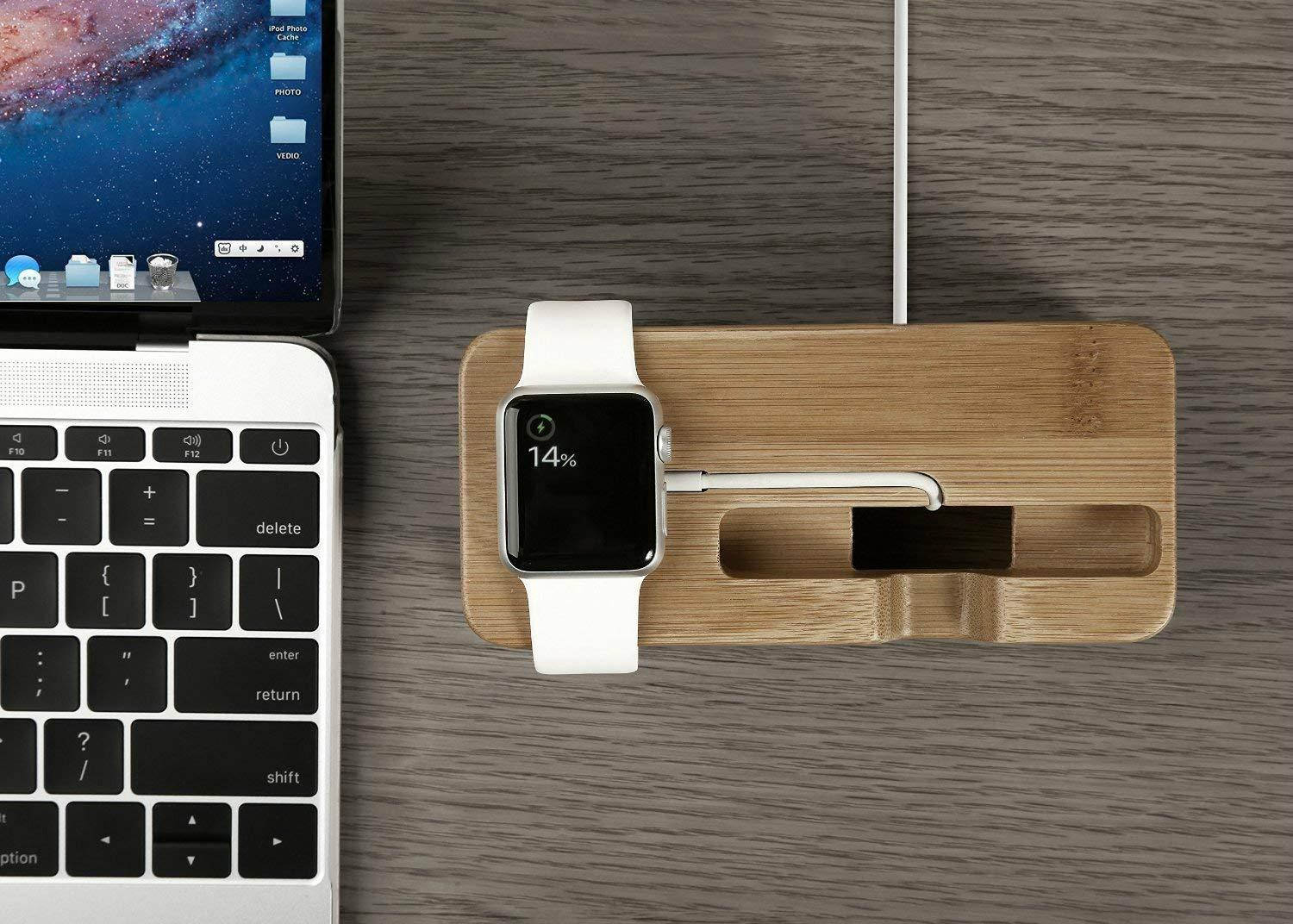 DCAE™ 2 In 1 Bamboo Charging Dock Station