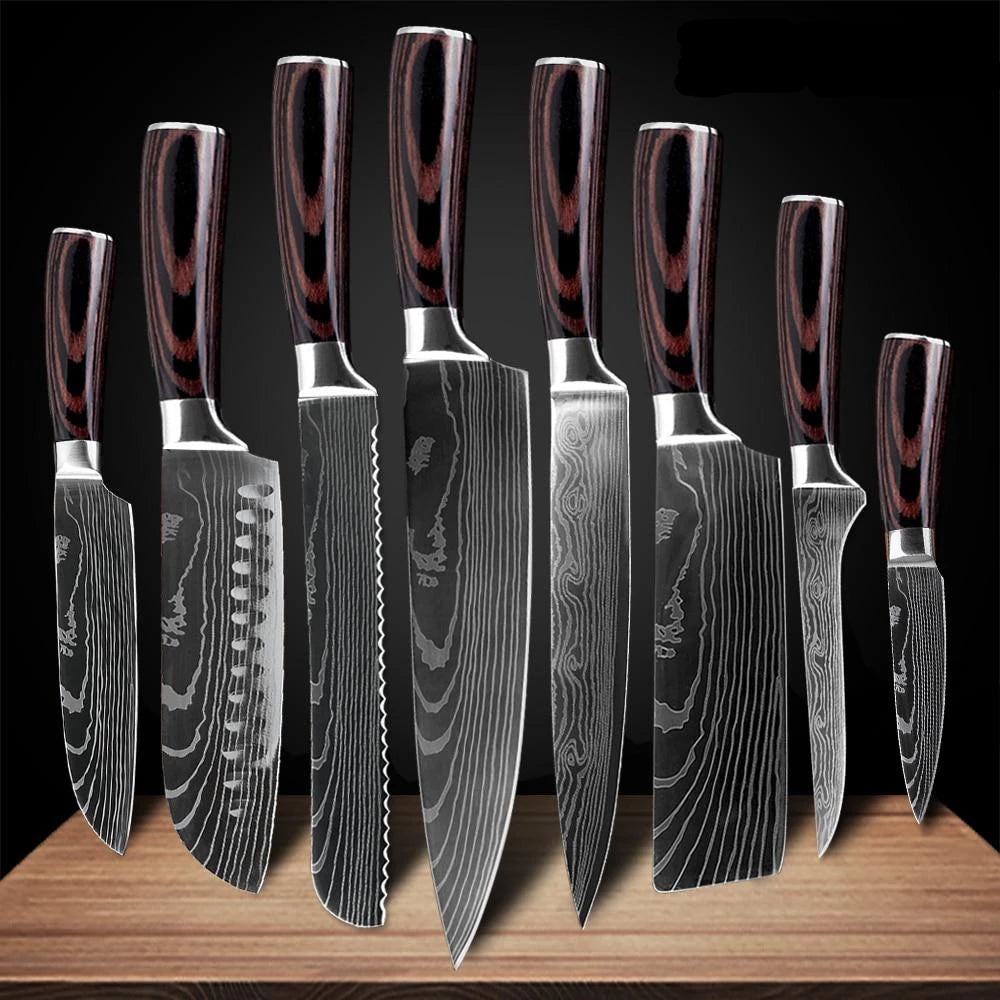 Japanese Chef Knife Set- Stainless Steel Blades