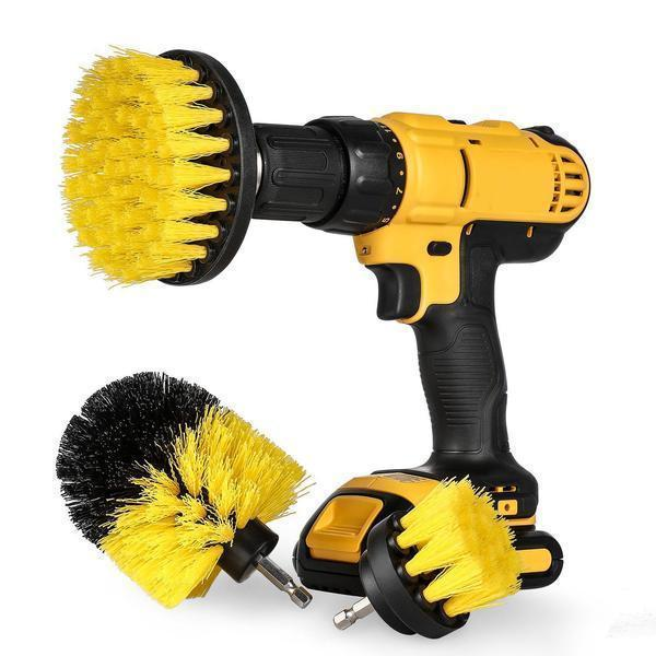 Drill Scrubber Brush (3 Piece Attachment Set)