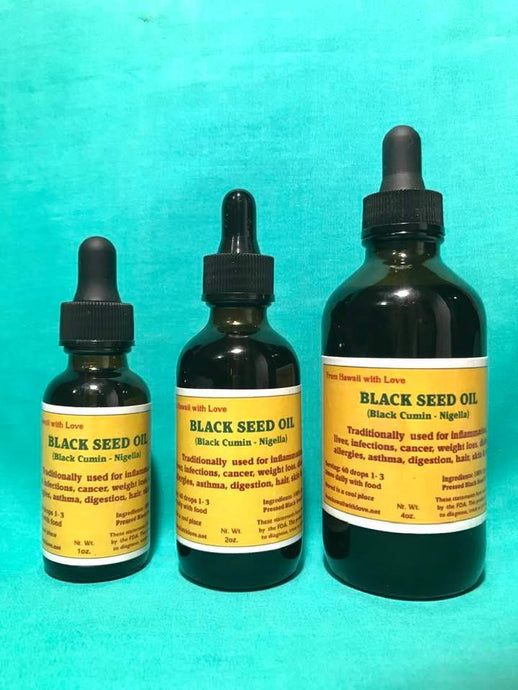 Black Seed Oil - Nigella Sativa  (Organic)