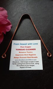100% Copper Tongue Cleaner