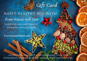 Gift Card: Happy Healthy Holiday From Hawaii with Love