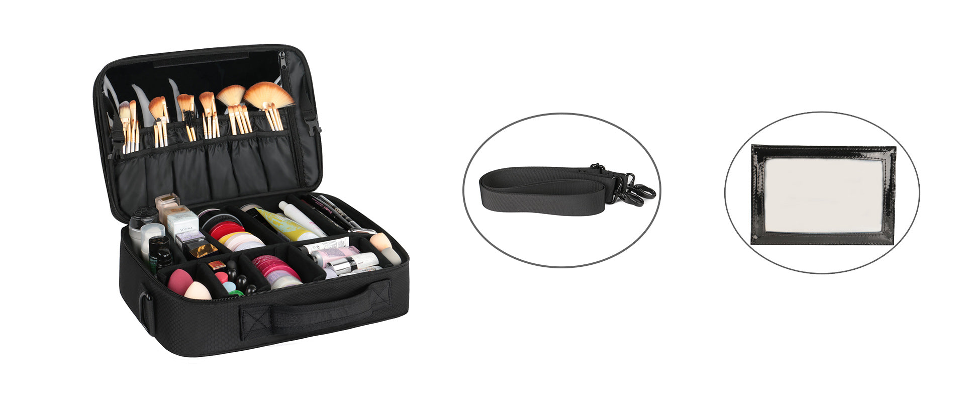 Matein Travel Professional Makeup Bag