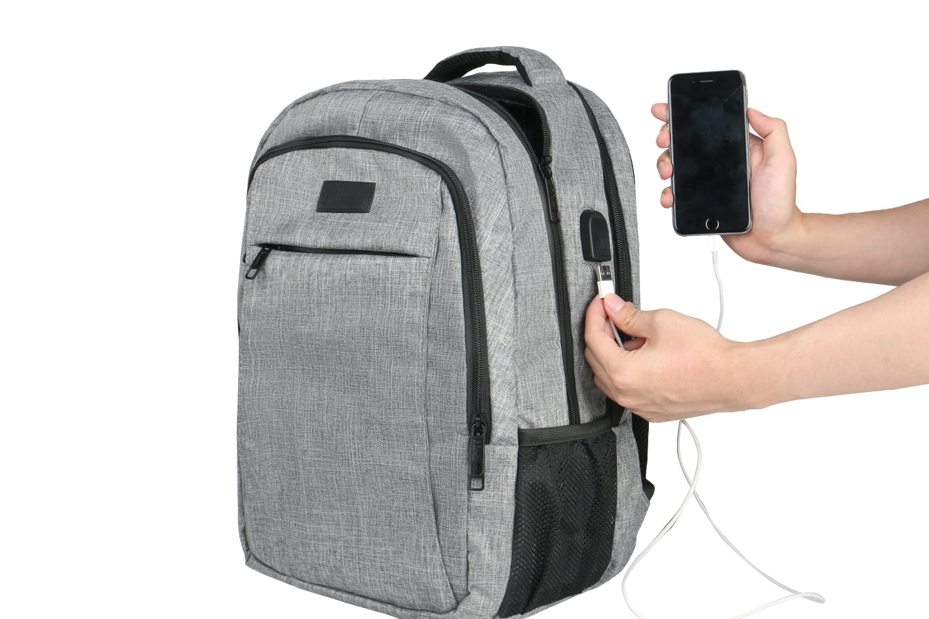 How to use Maten Backpack USB port