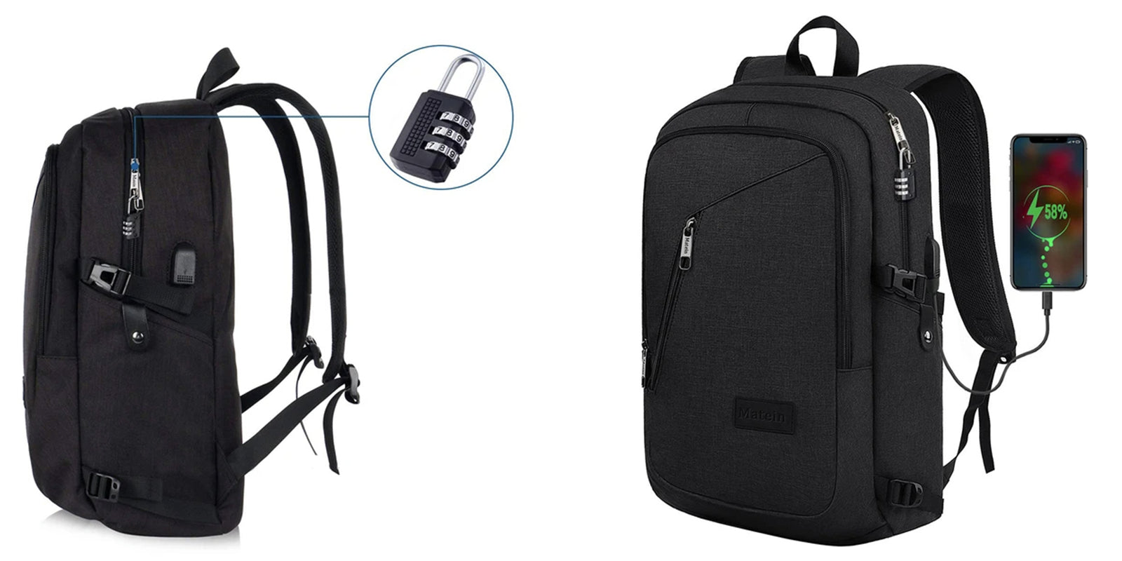 Matein Slim Laptop Backpack