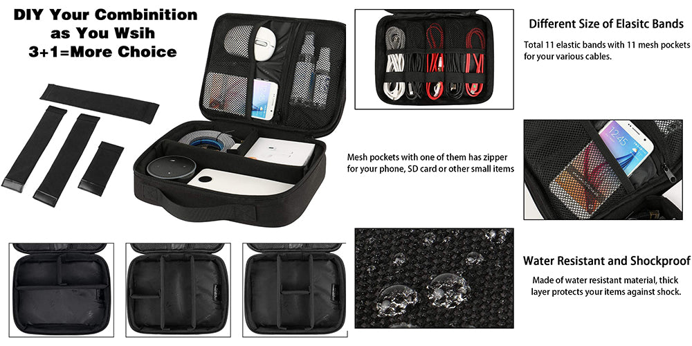 Matein Waterproof Electronics Organizer Storage Bag