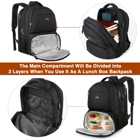 Backpack Lunchbox|Lunch Backpack|Bookbag with Lunch Box|Matein Backpack