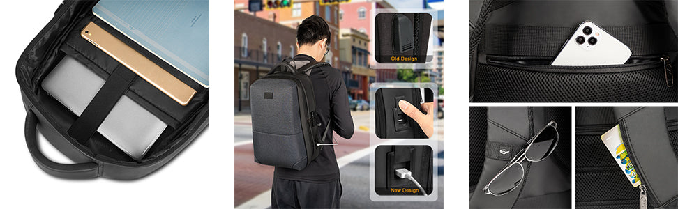Matein Hard Shell Backpack-anti theft backpack
