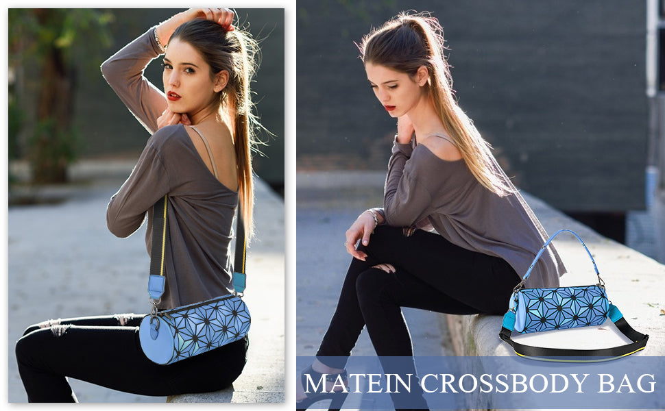 Matein Geometric Luminous Crossbody Bag-Crossbody Purses
