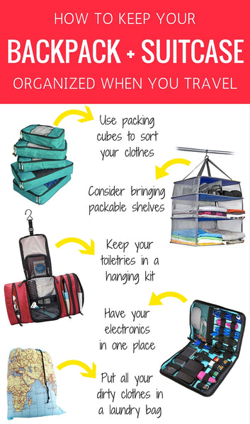 5 Things to Keep Your Backpack Organized When You Travel