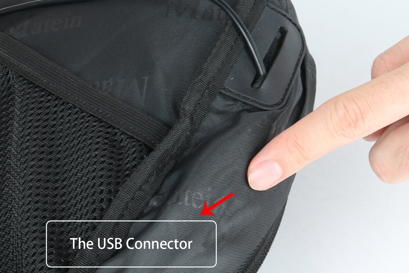 Instructions to clean your usb port backpack from Matein