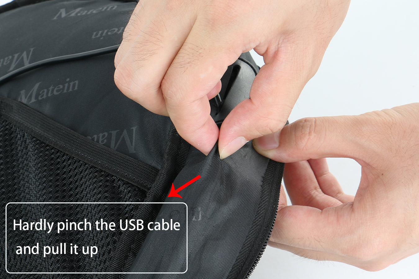 Matein USB port backpack washing instructions