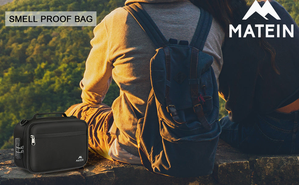 Matein Smell Proof Bag with Combination Lock-odor proof bag