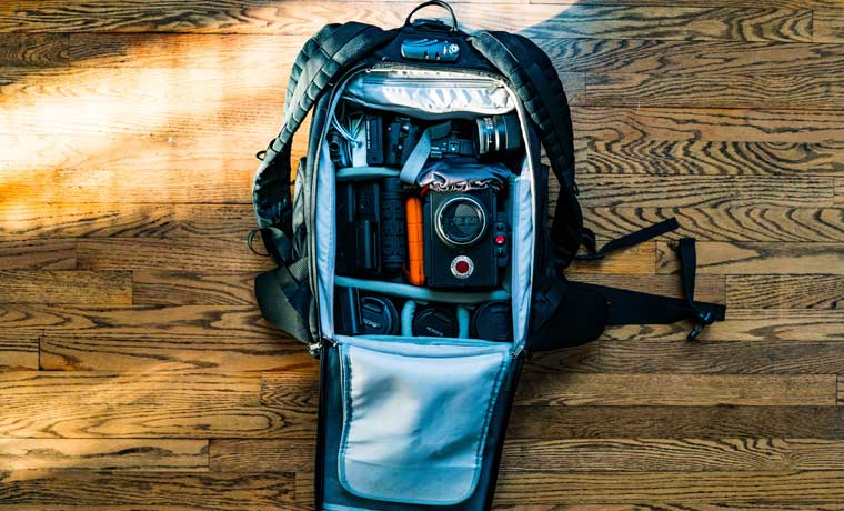 How do you protect your camera in a backpack