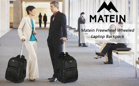 Matein Rolling laptop Backpack