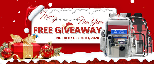Matein Clear Backpack Chrismas Giveaway