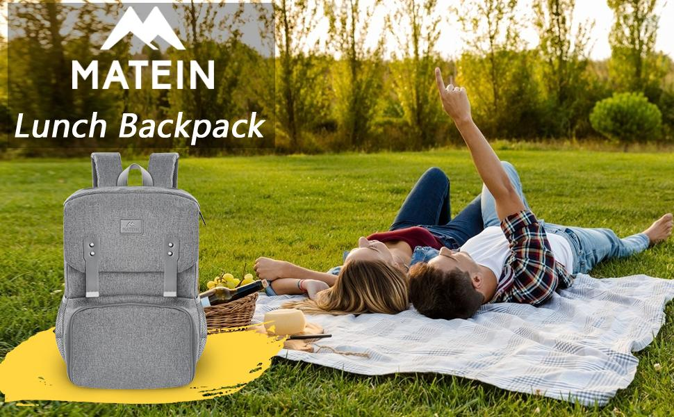 Matein Bookbag with Lunch Box - lunch backpack