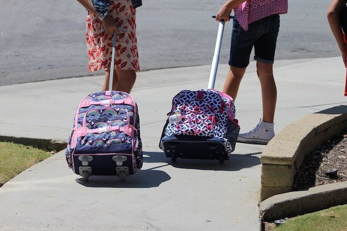 What are the types of school bags?