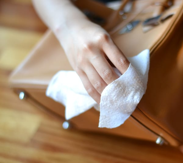 How to clean PU leather bag?