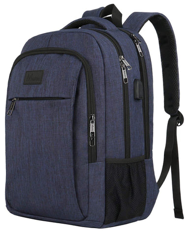 Matein Mlassic Travel Laptop Backpack with USB Charging Port Fits 15.6 inch Laptop