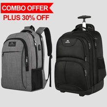 Load image into Gallery viewer, The Mlassic Backpack and Wheeled Rolling Backpack - travel laptop backpack
