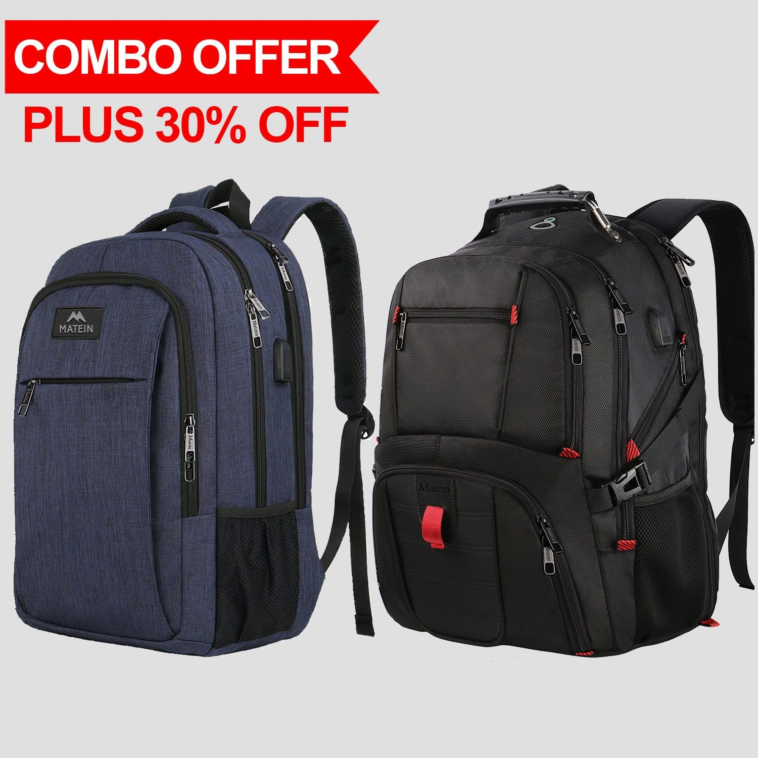 The Mlassic Backpack and TSA Backpack - travel laptop backpack