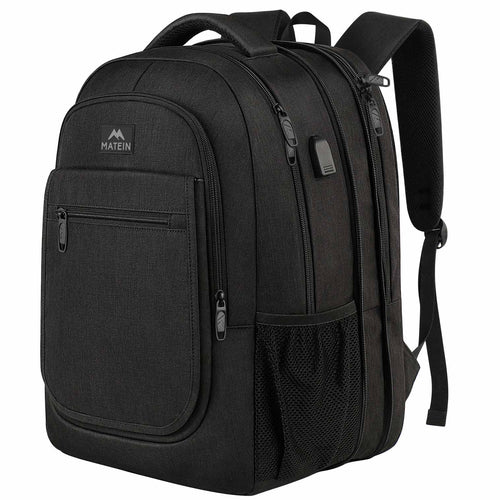 Expandable College Bookbag Travel  Laptop Backpack - travel laptop backpack