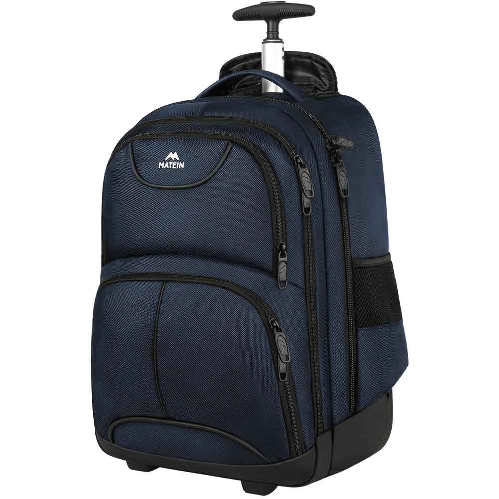 Matein Wheeled Rolling Backpack - travel laptop backpack