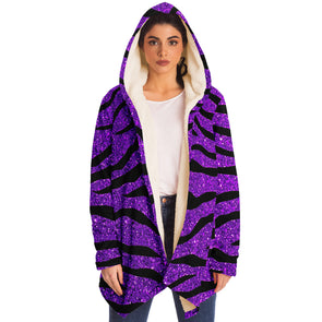 Glitter Purple Tiger Cloak Hoodie