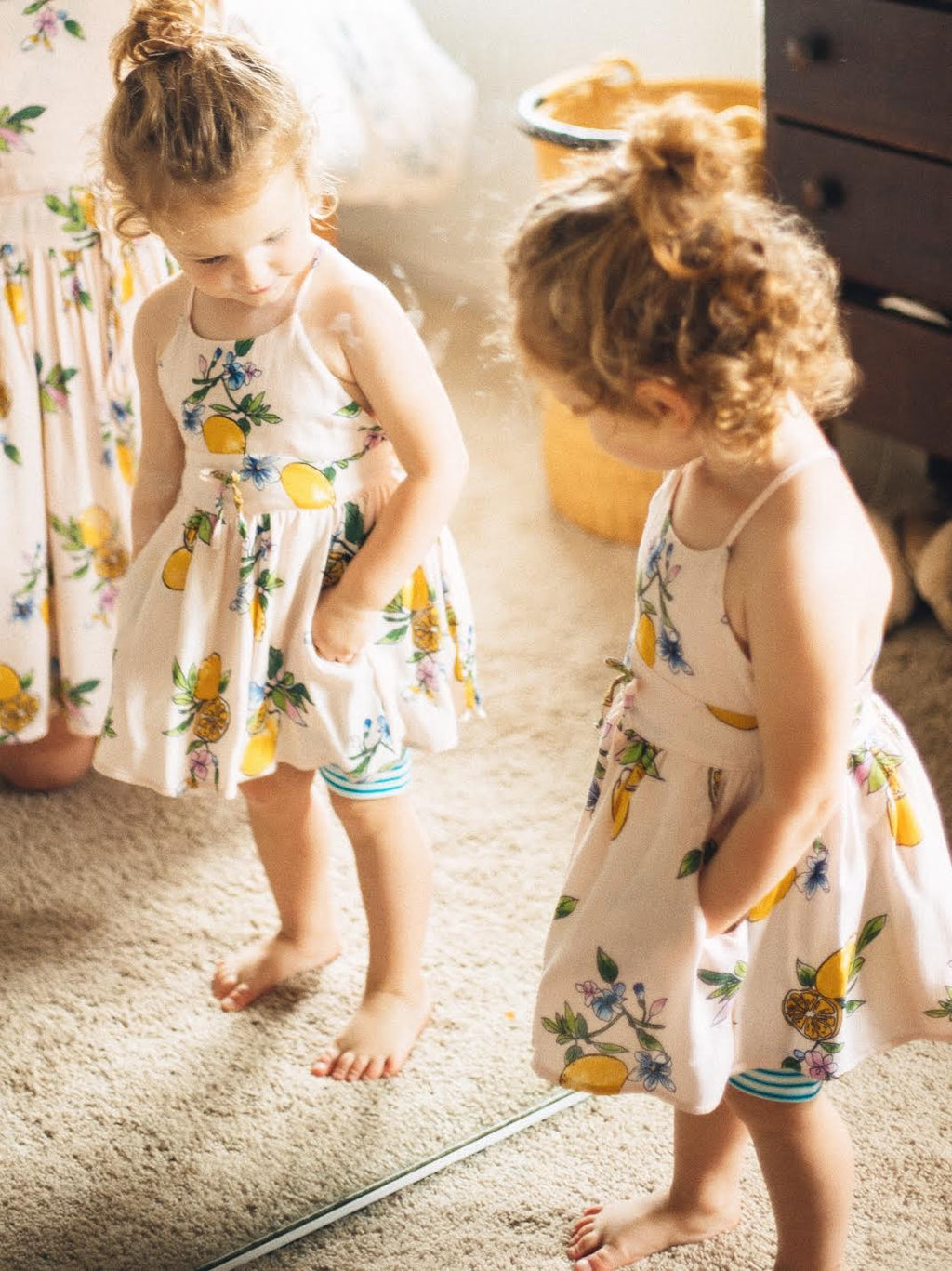 Baby Dandelion Dress - Pink Lemonade