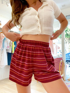 Hawaii Short - Burgundy Stripe