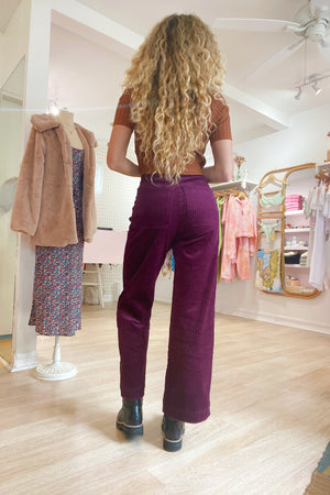Babydoll Pant - Deep Purple